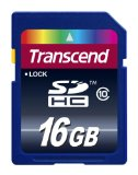 Black Friday Transcend 16 GB Class 10 SDHC Flash Memory Card TS16GSDHC10E