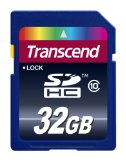 Black Friday Transcend 32 GB Class 10 SDHC Flash Memory Card TS32GSDHC10E